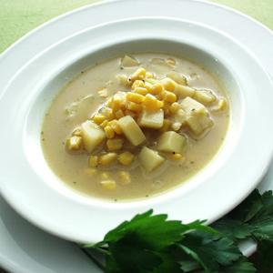 Amerikansk majssuppe