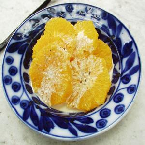 Appelsinsalat med vanille