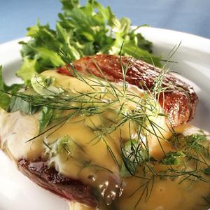 Bøf med limesauce og salat