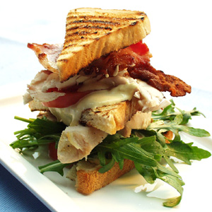 Clubsandwich med kylling og bacon