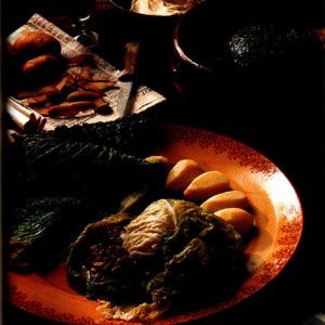 Farseret kål med champignons