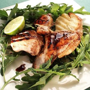 Grillet kylling med rucola og lime