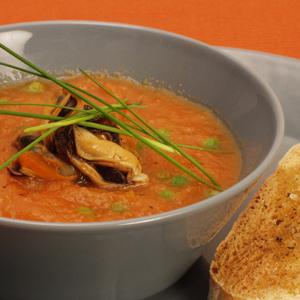 Gulerodssuppe med muslinger