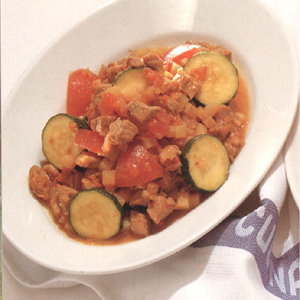 Kalveragout med zucchini
