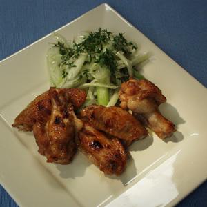 Kylling med fennikelsalat