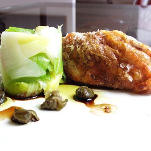 Kyllingebryst med porrer og kapers