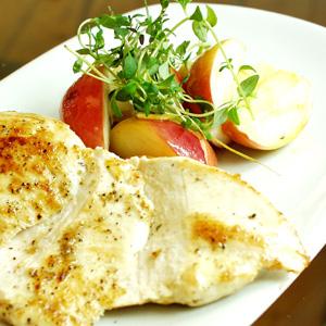 Kyllingefilet med æbler og ingefær
