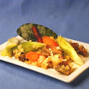 Lammekød i kanel med couscous