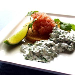 Limfjordskaviar med krydderurtecreme