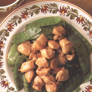 Lynstegt kylling med slikærter