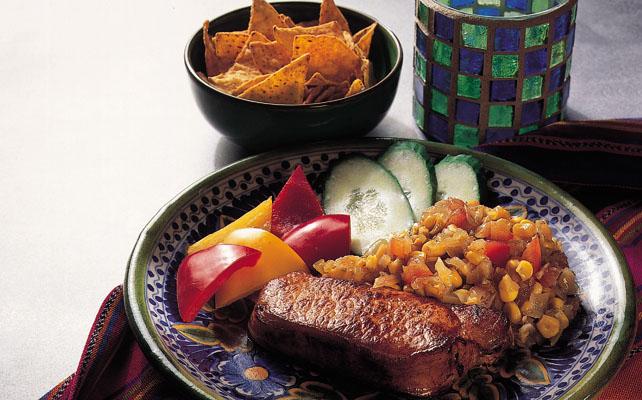 Mexicansk svinekotelet med majssalsa