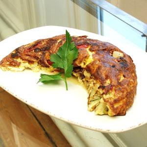 Omelet med ratatouille