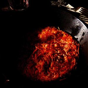 Pandekager af kartoffel og selleri med fløde
