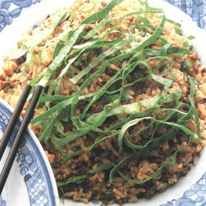 Ris stegt med oksekød