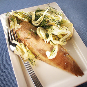 Røget makrel med fennikelsalat