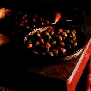 Rosenkål med kastanjer