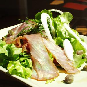 Salat med røget tunfisk