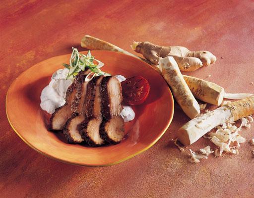 Skinkemignon grillet med soja-ingefær-hvidløg