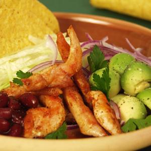 Tacos med kylling og chilibønner
