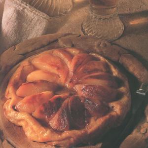 Tærte med karamelliserede pærer